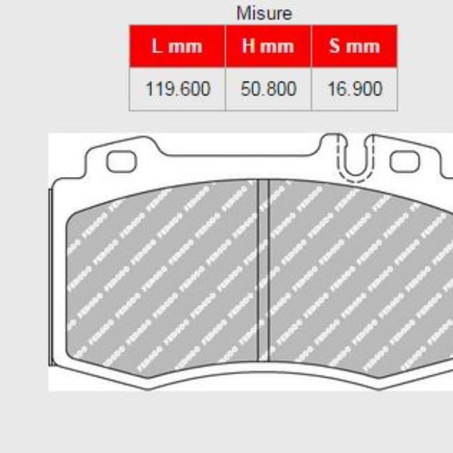 798A-FCP1661H PASTIGLIE/BRAKE PADS FERODO RACING DS2500 MERCEDES C200 1.8 16v (S203 ) For vehicles with sports package - 2