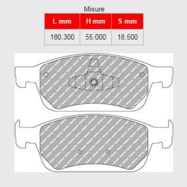 407A-FCP4416H  BRAKE PADS FERODO RACING DS2500 FORD Kuga II 2.0 TDCi - 2