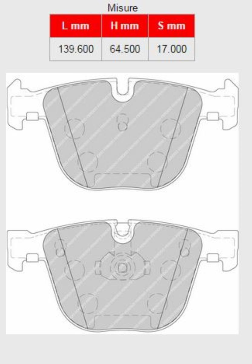 147A-FCP1672H  BRAKE PADS FERODO RACING DS2500 BMW M3 All 3 Coupe M3 (E92) - 2