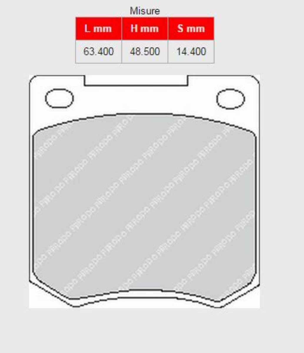 85A-FCP810H  BRAKE PADS FERODO RACING DS2500 FORD Cortina 1,2 - 2